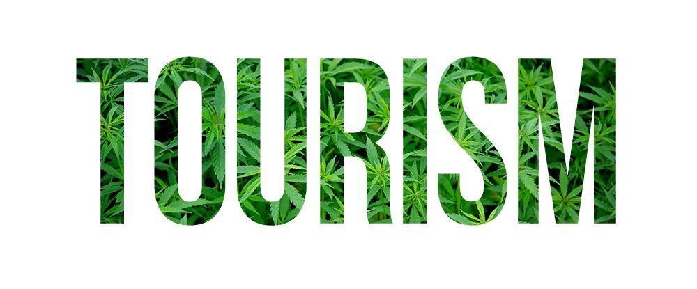 Pot Tourism in green letters