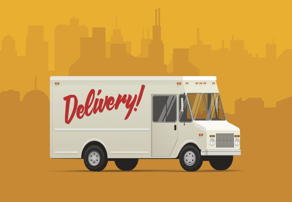 delivery truck drawing