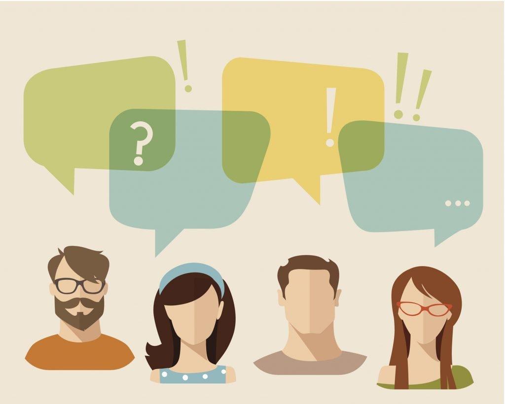 Conversation amongst people