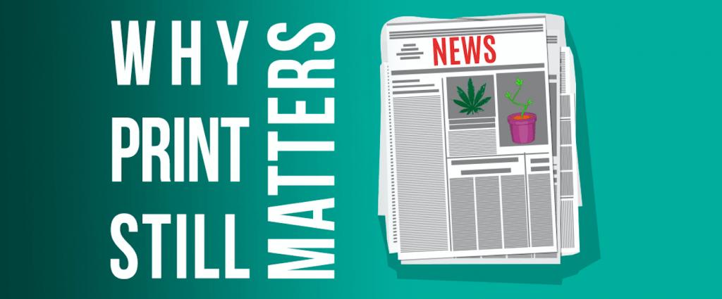 Newspaper with marijuana ads