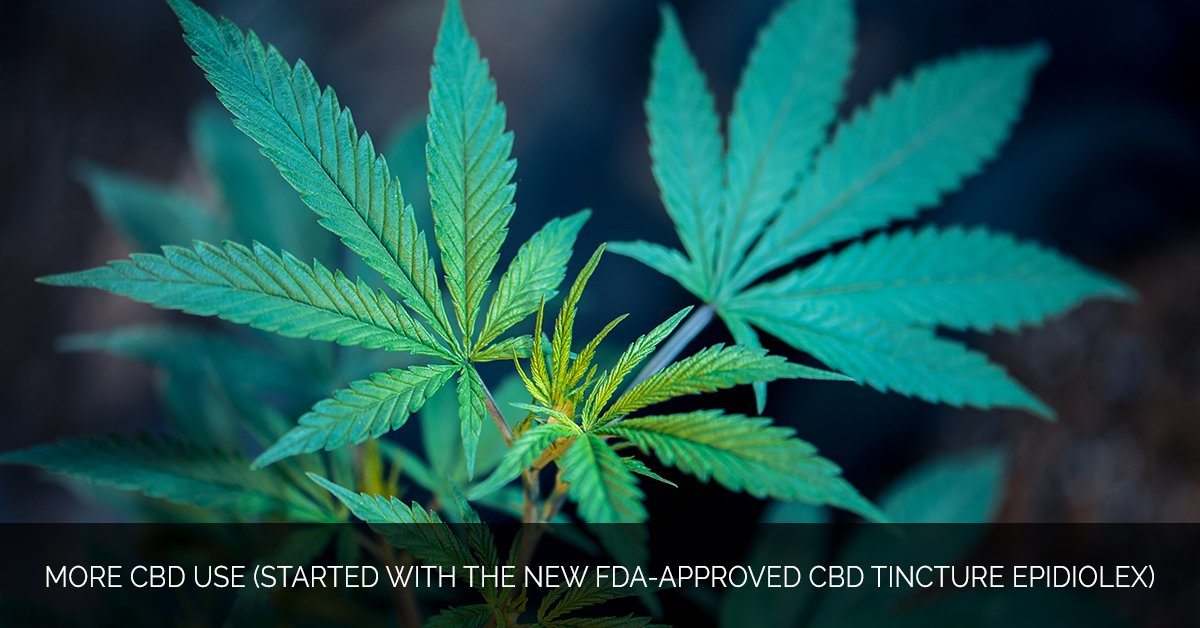 More CBD Use (started with the new FDA-approved CBD tincture Epidiolex)
