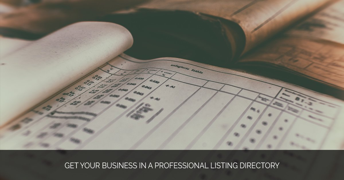 Get Your Business in a Professional Listing Directory