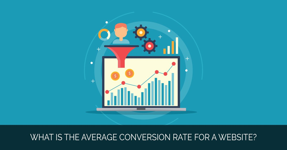 What is the average conversion rate for a website_